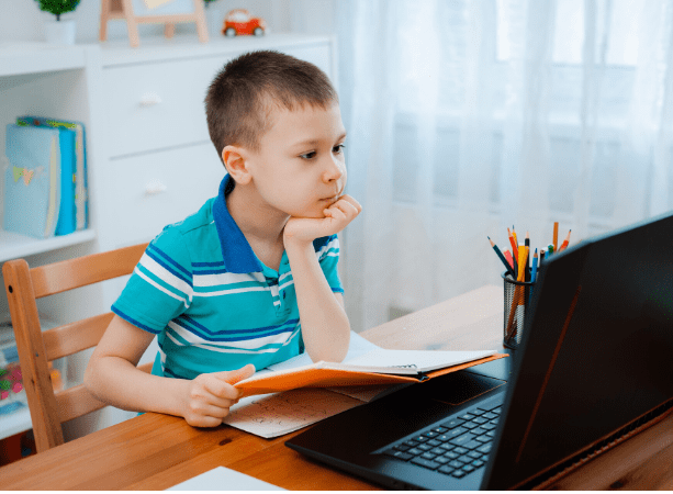 Distance Learning Child Using a Computer