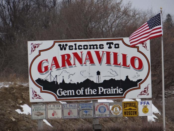 Garnavillo Iowa Welcome Sign